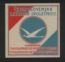 Airline label luggage label Czechoslovakia #482